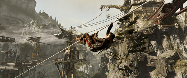 "Screen shot from most recent ""Tomb Raider"" game (Flickr)"