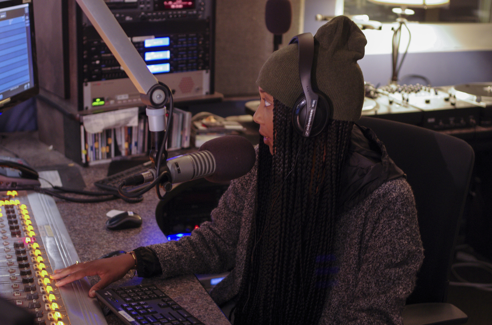 WHUS 91.7 DJ Alyssa Hughes is a senior journalism major. (William Chan/Daily Campus)