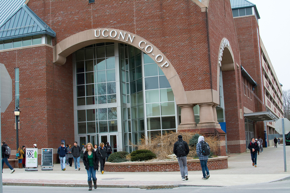 In this file photo, the UConn Co-op is pictured in Storrs, Connecticut. Book sales at the UConn Co-op have fallen nearly 30 percent from their peak five years ago as students increasingly search to buy textbooks from online retailers. (File Photo/The Daily Campus)