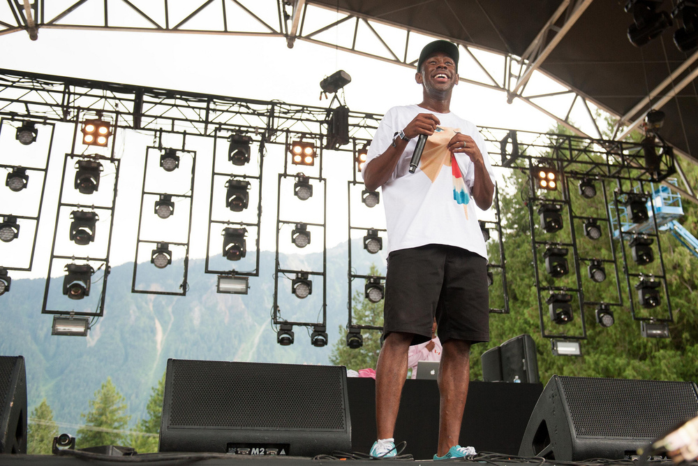 Tyler, The Creator performs at the Pemberton Music Fesitval in Pemberton, British Columbia, Canada on July 18, 2014. (Pemberton Music Festival/Flickr)