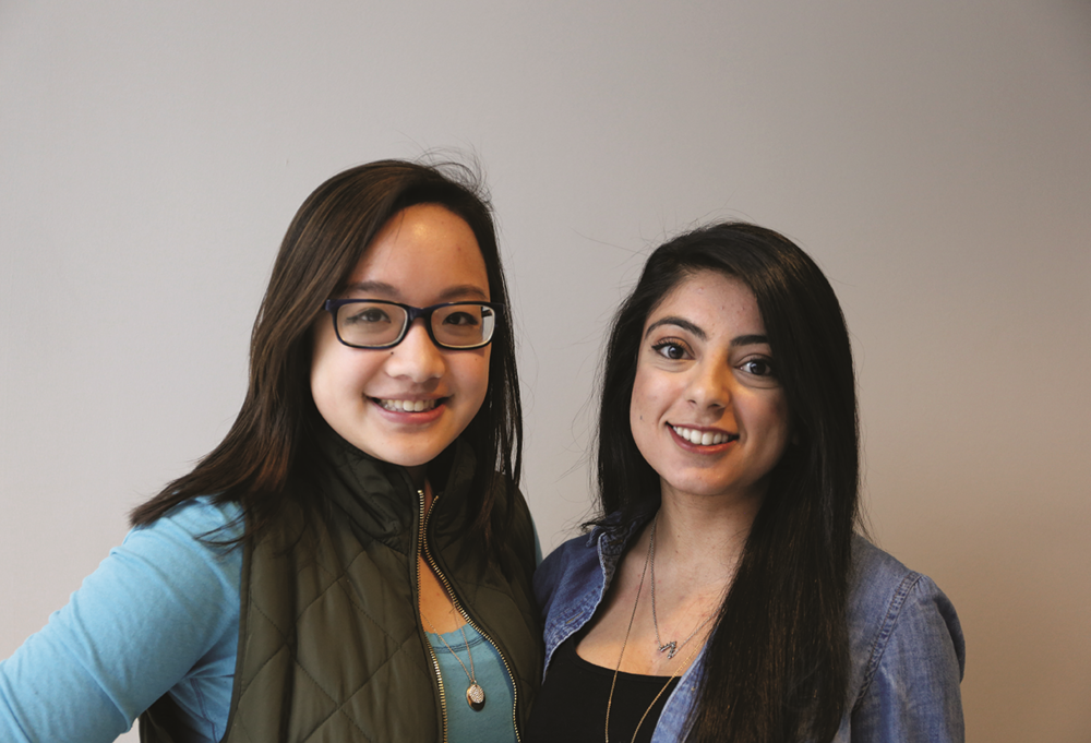 May La, a sixth semester human resource management major, and Megha Patel, an eighth semester molecular and cell biology major are both coordinators for the Asisantation Mentoring Program at UConn's Asian American Cultural Center. (Jackson Haigis/Daily Campus)