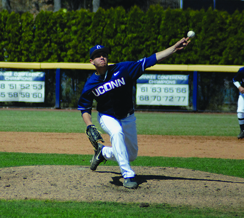 Anthony Kay delivers a pitch against Temple on April 19, 2014. (File photo)