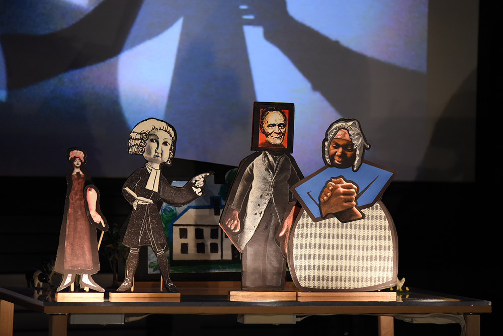 "Puppets are seen on stage during Puppetsweat Theater's performance of ""The Autobiography of James Mars: A Slave Born and Sold in Connecticut"" at the Ballard Institute and Museum of Puppetry on Saturday, Feb. 13, 2016. (Allen Lang/The Daily Campus)"