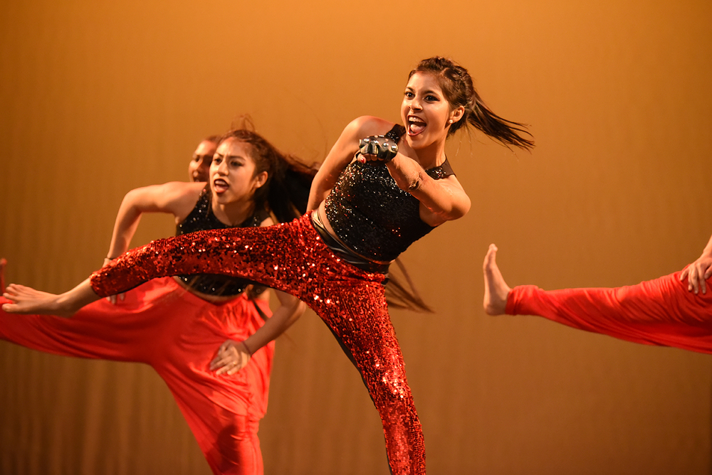 "Performers are seen dancing during ""Dancers for Difference,"" a charity dance event hosted by UConn Surya, at the Jorgensen Center for the Performing Arts in Storrs, Connecticut on Saturday, Feb. 13, 2016. (Allen Lang/The Daily Campus)"