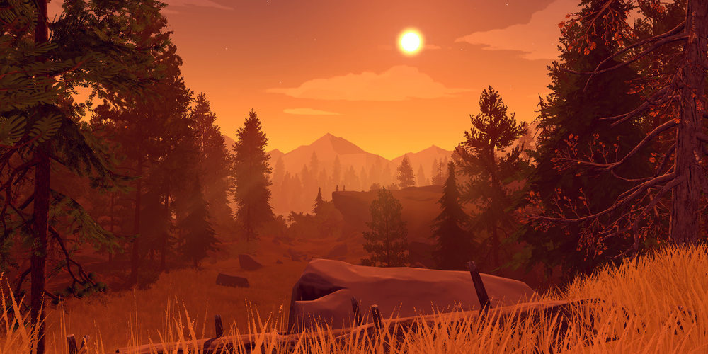 "A scene from ""Firewatch,"" a video game with a plot about hiking. (Flickr/ K putt )"