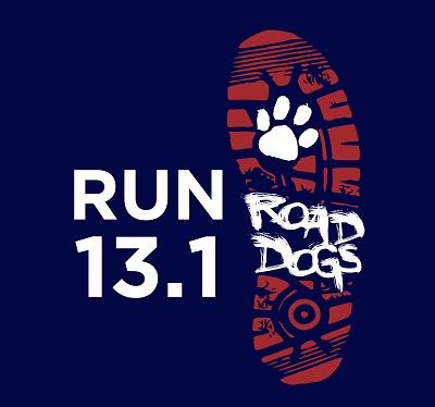 The logo for the Husky Road Dogs, a half-marathon training team run through UConn Recreation. (Courtesy/Road Dogs Website)