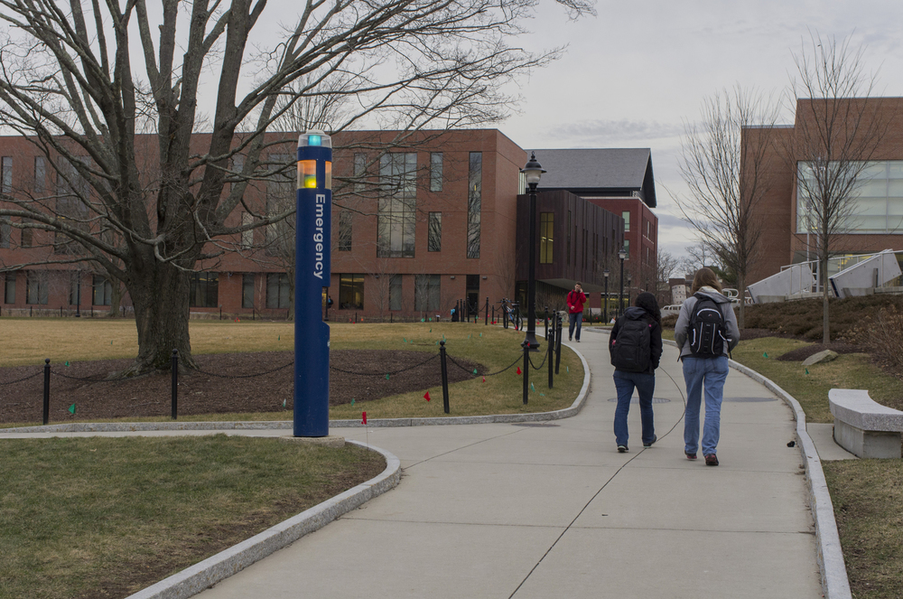 There are 273 blue light towers scattered across campus, and 56 more at the regional campuses, according to the UITS manager in charge of blue phones Michael Williams. (William Chan/Daily Campus)