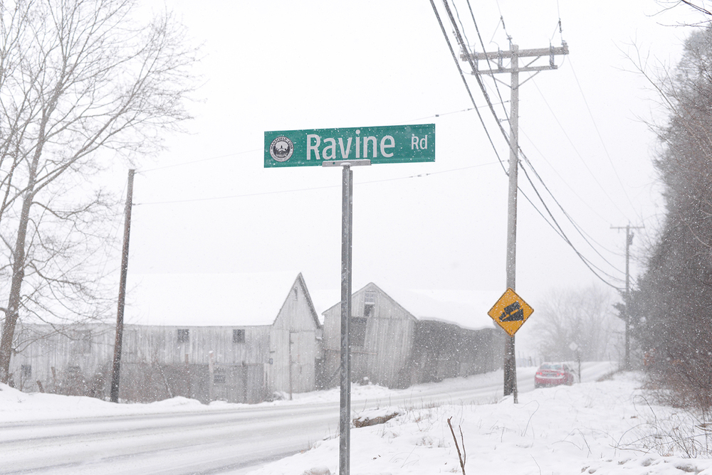Ravine Road, a partly unpaved road in Mansfield, Conn., connects Route 32 or Stafford Road to North Eagleville Road. Its future as a public road has been the subject of controversy. (Ashley Maher/Daily Campus)