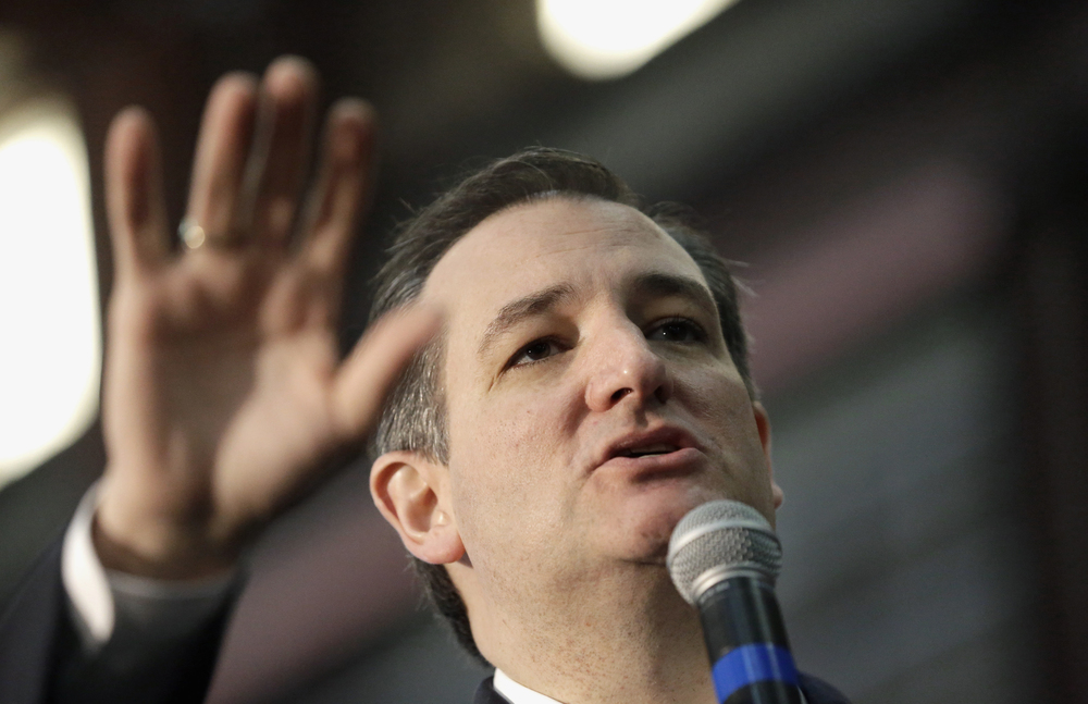 Republican presidential candidate, Sen. Ted Cruz, R-Texas speaks during a rally, Wednesday, Feb. 24, 2016, in Houston. (AP Photo/David J. Phillip)