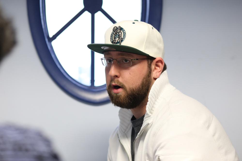 Eight-semester journalism major Dalton Zbierski, who raps under the stage name Dalton Ross. (Jackson Haigis/The Daily Campus)