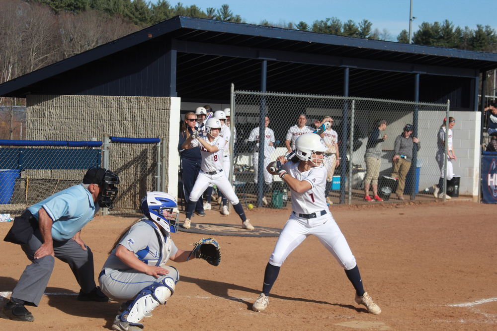 Heather Fyfe digs in at the plate in a game last season. UConn is set for their first home game of the season. (File Photo/The Daily Campus)