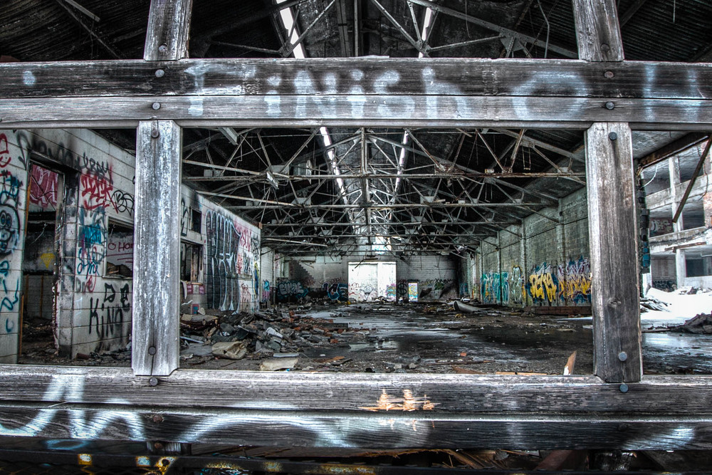 The abandoned Packard Plant in Detroit, Michigan in March 2014. (Moon Man Mike/Creative Commons)