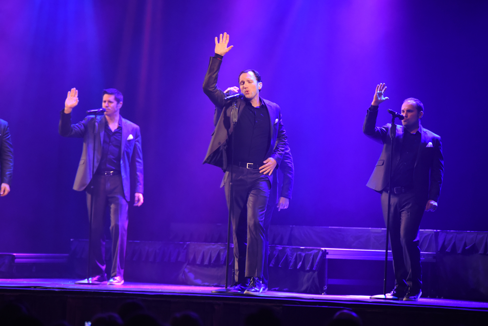 A capella group Straight No Chaser performs at the Jorgensen Center for the Performing Arts in Storrs, Connecticut on Saturday, April 2, 2016. (Rebecca Newman/The Daily Campus)