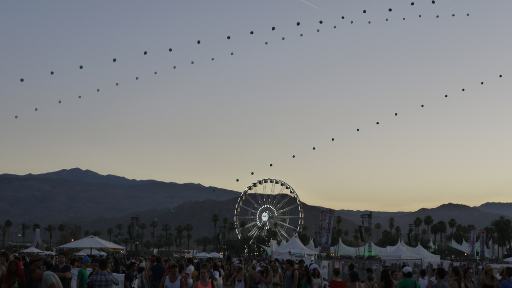 The Coachella Valley Music and Arts Festival, held annually in Indio, California, draws scores of people and Hollywood stars. The style usually follows an eccentric, bohemian look. (Flickr/Malcolm Murdock)