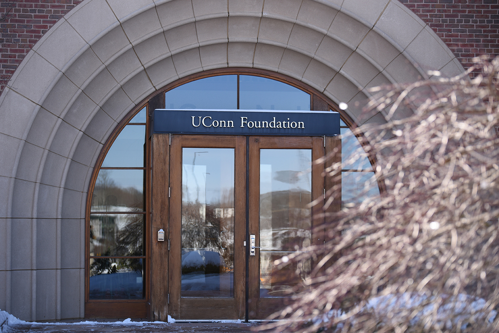UConn Foundation is located across from North Garage and the Jorgensen Center for Performing Arts. As a private foundation, it donates to many organizations, but it's donations are not made public under the Freedom of Information Act. (Zhelun Lang/Daily Campus)