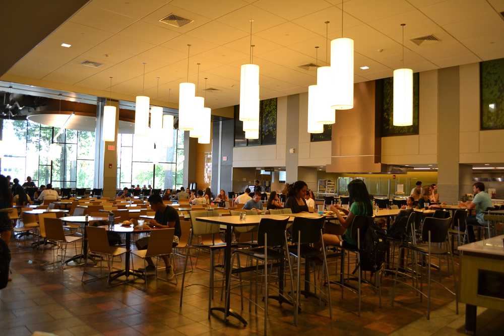 The McMahon Dining Hall on the UConn campus in Storrs, Connecticut. (Bailey Wright/The Daily Campus)