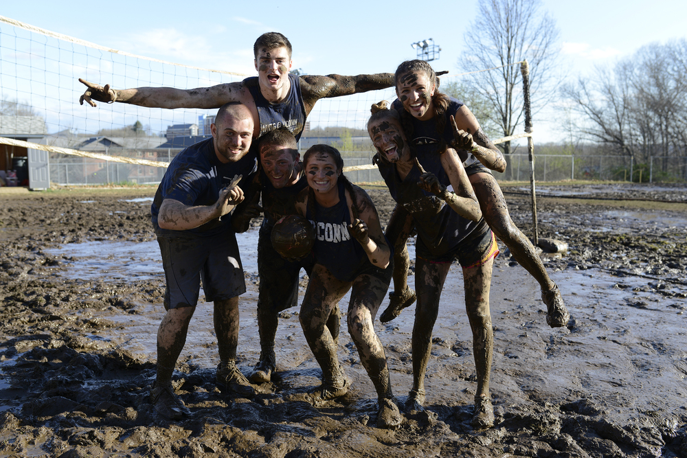 Students during the 2016 OOzeball tournament on UConn's North Campus on Sunday, April 24, 2016. (Jason Jiang/The Daily Campus)