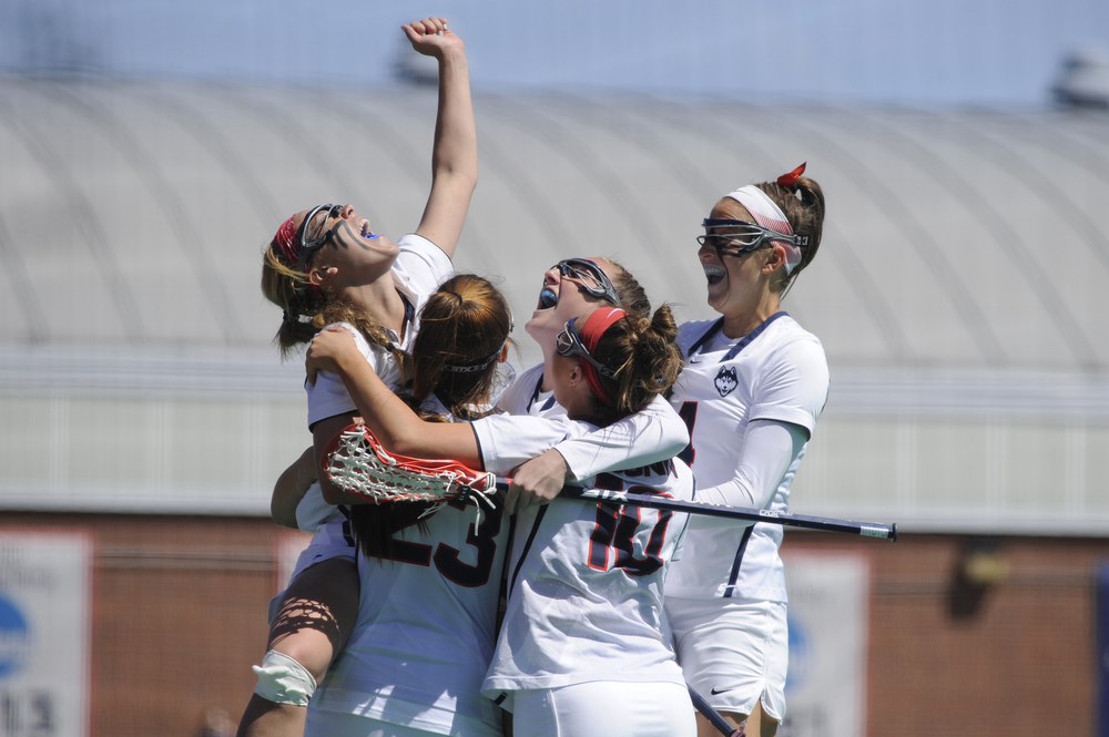 The UConn women's lacrosse team will take the field for the final time this regular season on Sunday against the No. 20 Towson Tigers at Johnny Unitas Stadium in Baltimore at noon, the first time since 2006 that either of them have faced off against each other. (Jason Jiang/The Daily Campus)