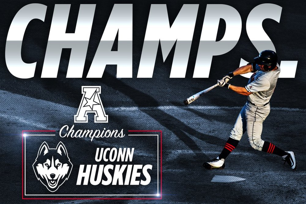 UConn captured their first American Athletic Conference championship with a 7-2 win over Houston on Sunday. (Photo/@UConnBaseball)