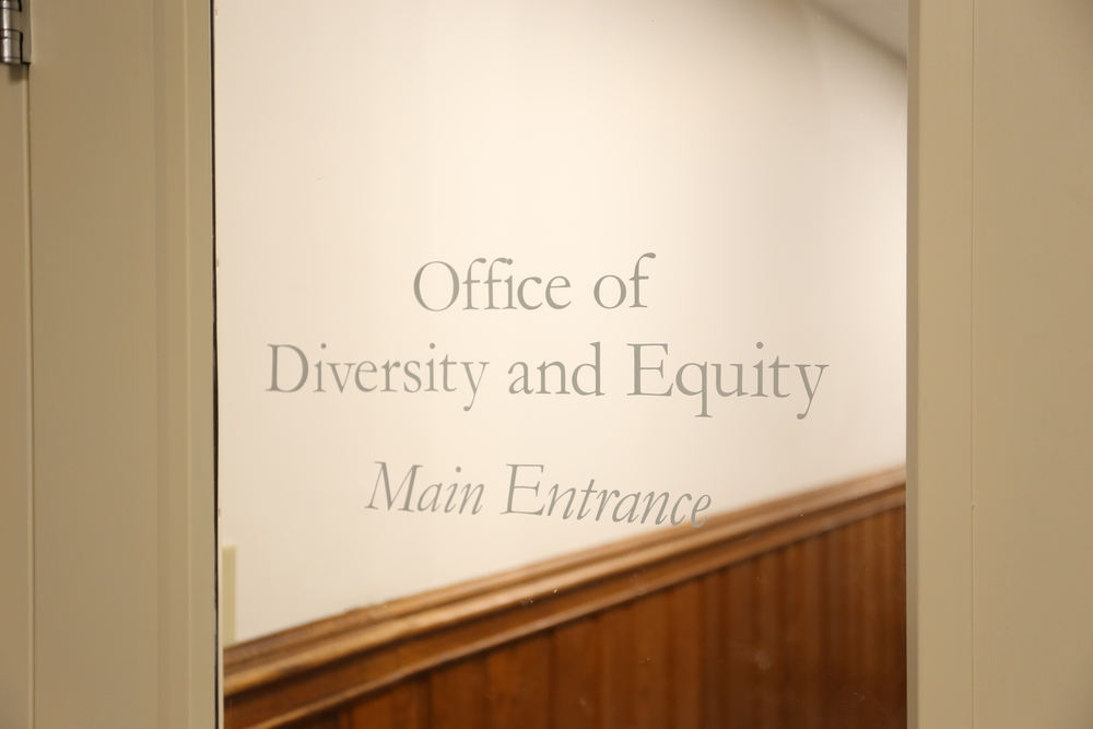 The entrance to the Office of Diversity and Equity, located in Woods Hall on Glenbrook Road. (Jackson Haigis/Daily Campus)