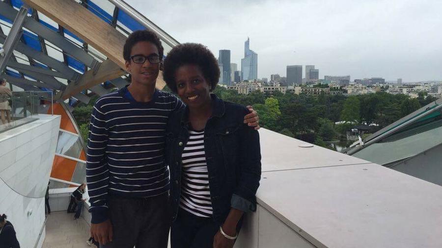 UConn Professor Odette Casamayor-Cisneros with her son, Flavio Clermont. (Courtesy/Odette Casamayor-Cisneros)