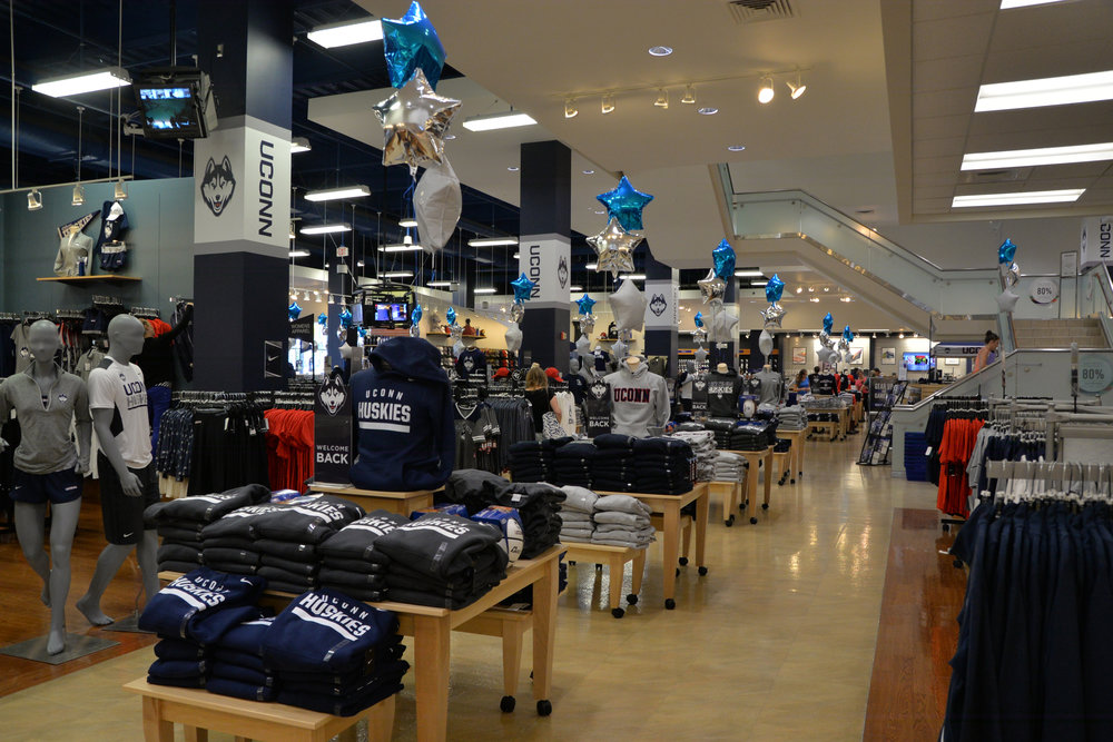 The UConn Bookstore has the key to any successful wardrobe: UConn apparel. (Amar Batra/The Daily Campus)