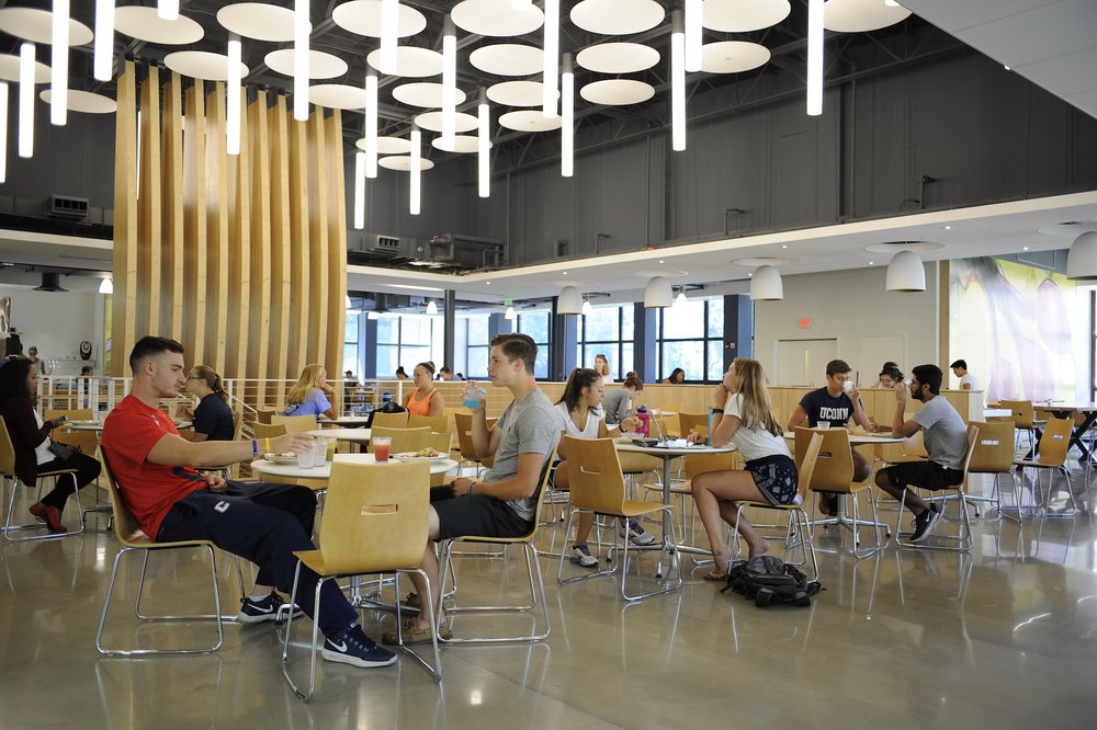 After a $12.6 million renovation project, newly renovated Putnam Refectory finally serves students for the first time since March. (Jason Jiang/The Daily Campus)