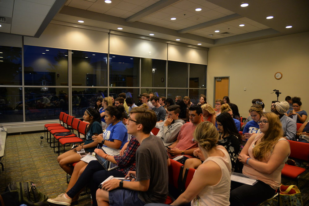 The Undergraduate Student Government met Wednesday night for their first meeting of the fall. (Amar Batra/The Daily Campus)