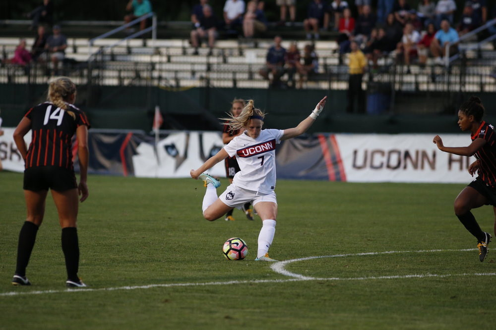 The Women's team beat out Pacific 1-0 at Morrone Stadium. (Tyler Benton/The Daily Campus)