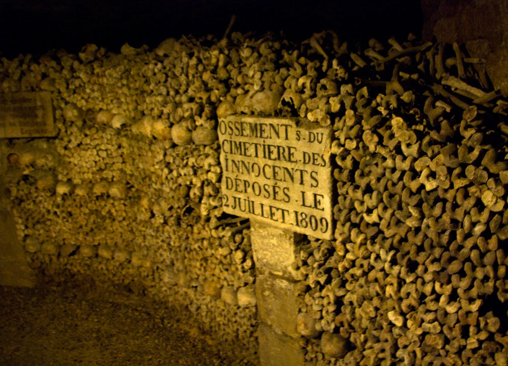 The mines below Paris stretch across thousands miles and hide many sinister secrets including mass graves. (SBoyd/Flickr)