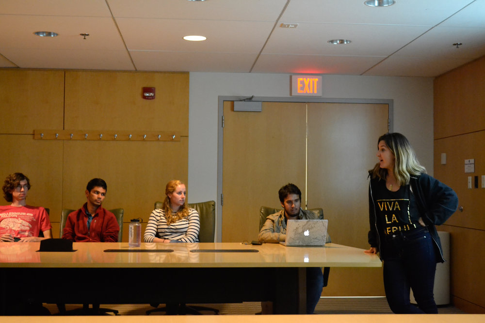 The UConn College Democrats had their first meeting of the semester on Tuesday evening in the Student Union. (Olivia Stenger/The Daily Campus)