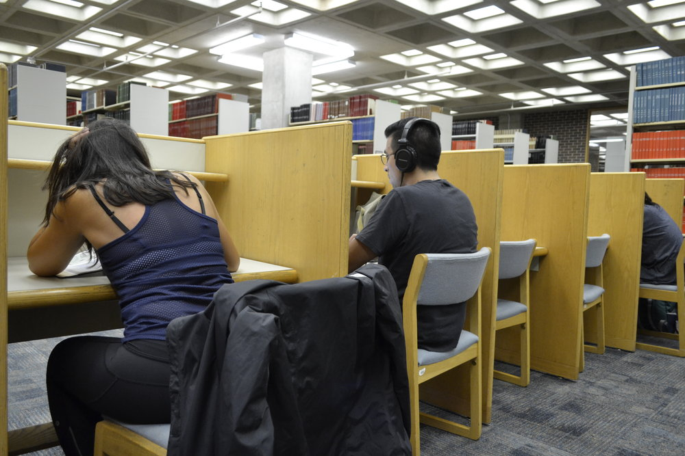 Stop sitting! The Chair-Free Project is leading an effort to get students to avoid sitting. (Olivia Stenger/The Daily Campus)