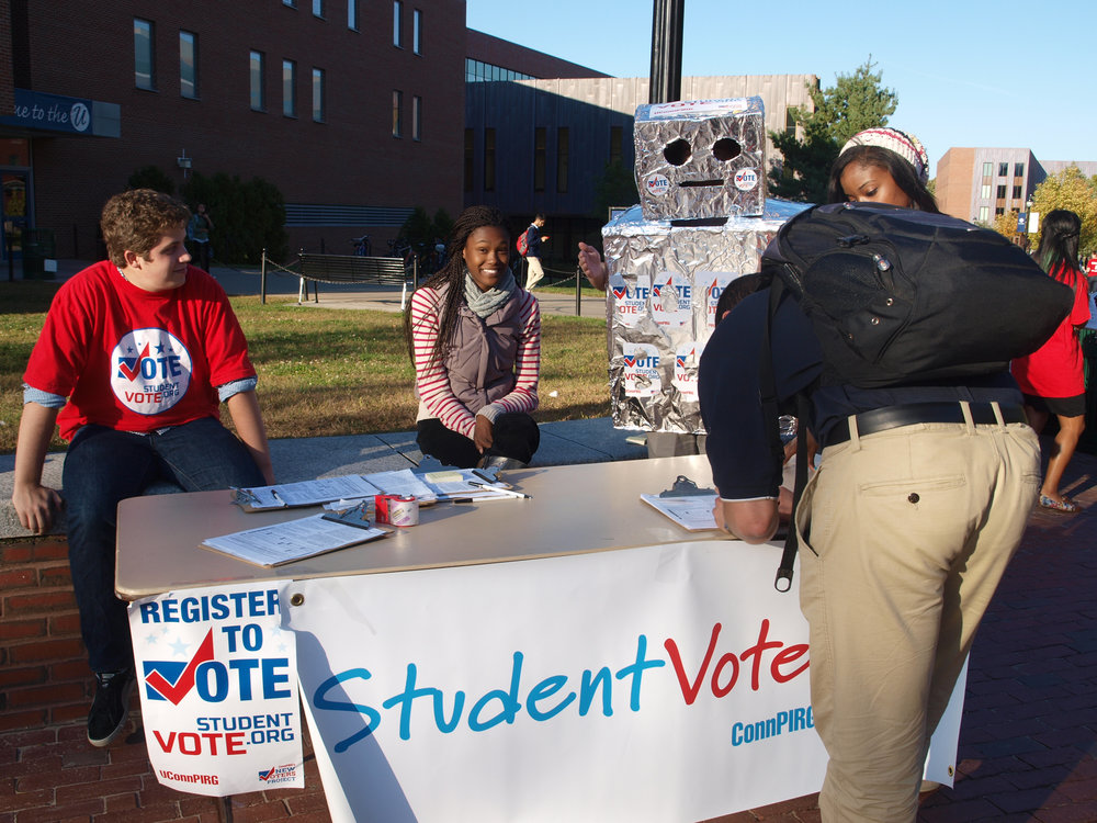 UConnPIRG has a goal to register 4,000 eligible voters in preparation for the 2016 elections. (File photo/The Daily Campus)