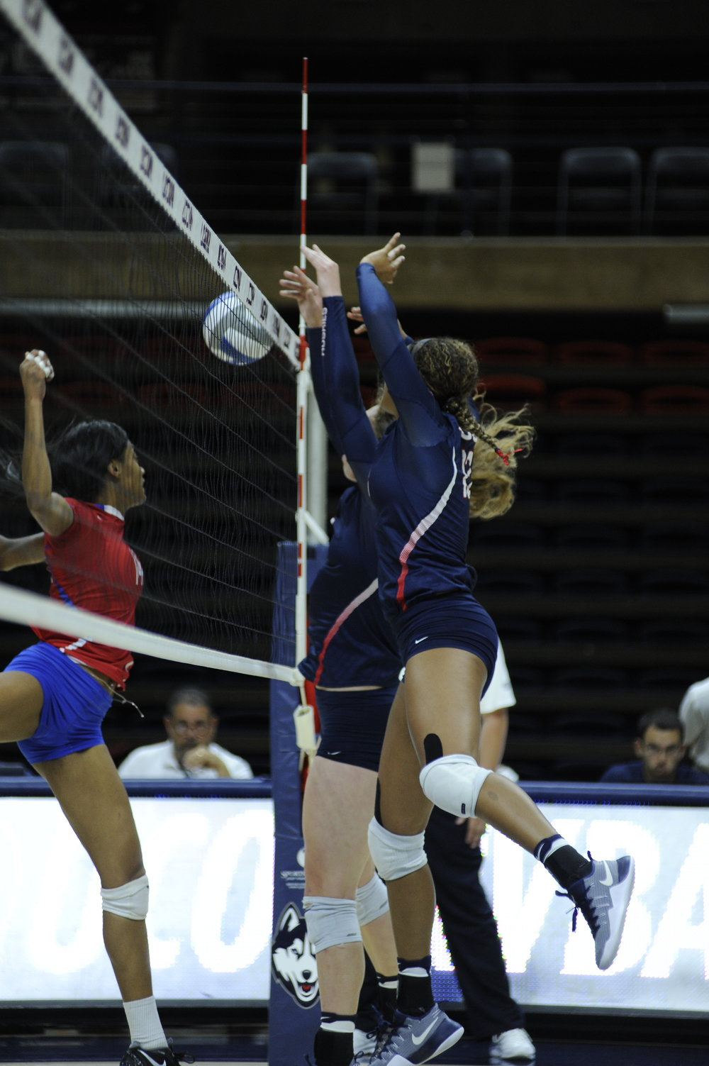 The UConn women's volleyball team beat St. Francis Brooklyn 3-1 on Saturday September 10, 2016 at Gampel Pavilion. (Jason Jiang/The Daily Campus)