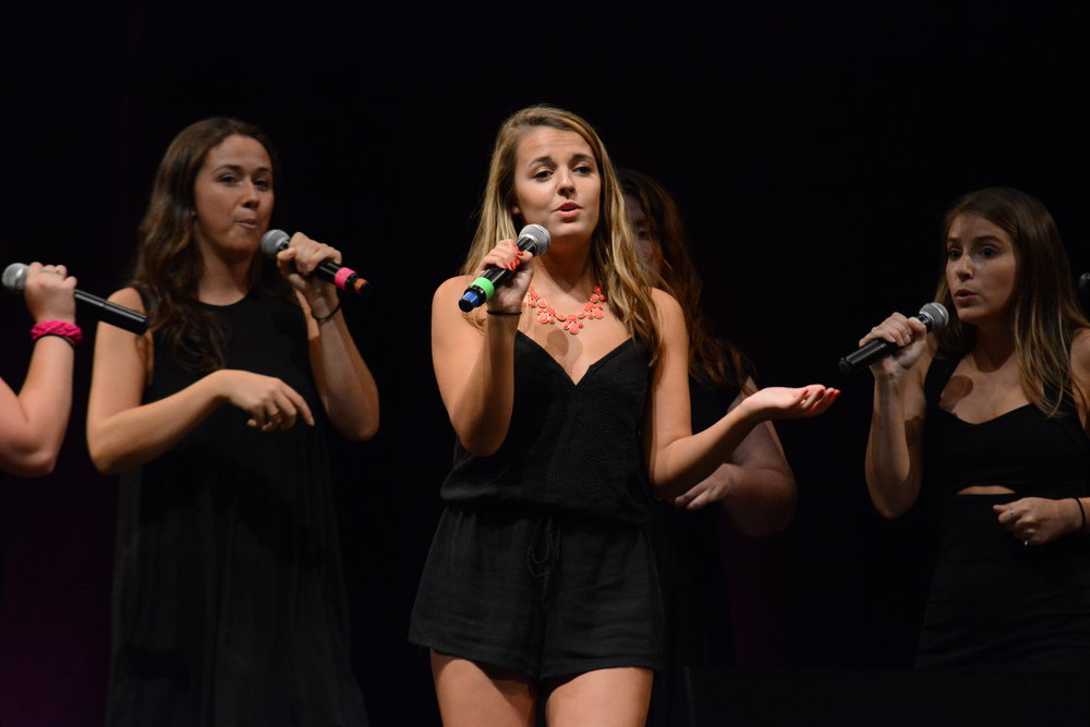 Ruby Fruit performs at the A Capella Rush Concert on Sat., Sept. 10, 2016 at the Jorgensen Center for Performing Arts. (Marissa Aldieri/The Daily Campus)