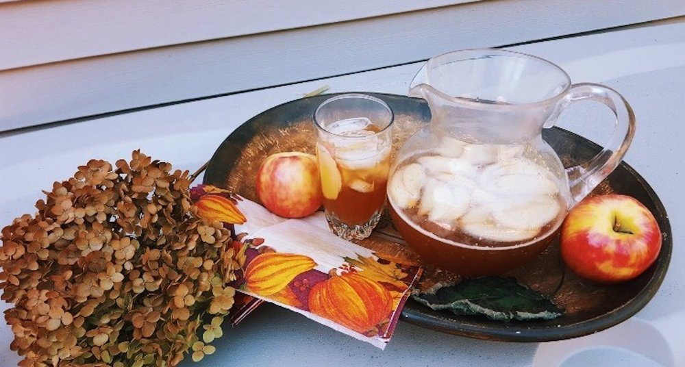 Honey cider-beer cocktails, the first fall-inspired drink of the season. (Megan Krementowski/The Daily Campus)
