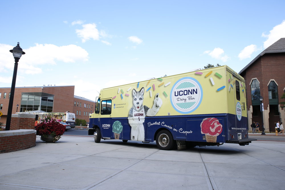 The UConn Dairy Bar ice cream truck. (Tyler Benton/The Daily Campus)