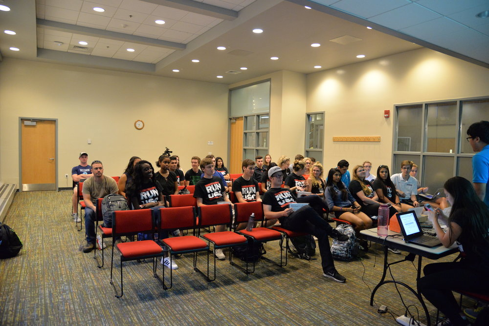 The Undergraduate student senate met for caucus in the Student Union on Wednesday evening. They discussed their goals for the semester and year. (Amar Batra/The Daily Campus)