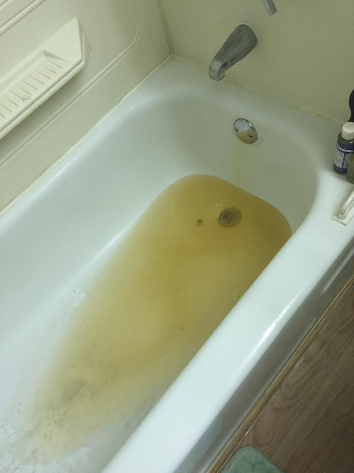Discolored water at Cedar Ridge Townhouses