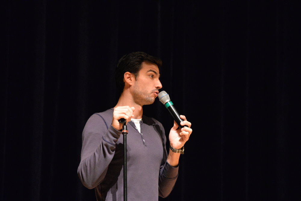 Comedian Justin Clark entertained a crowd in the Student Union on Wednesday evening during a comedy show presented by SUBOG. (Amar Batra/The Daily Campus)