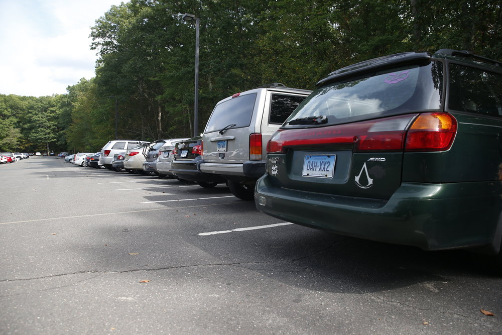 The university is looking into utilizing under used lots in an attempt to alleviate parking problems. Y Lot and 8 Lot, pictured above, often fill early in the morning. (Tyler Benton/The Daily Campus)