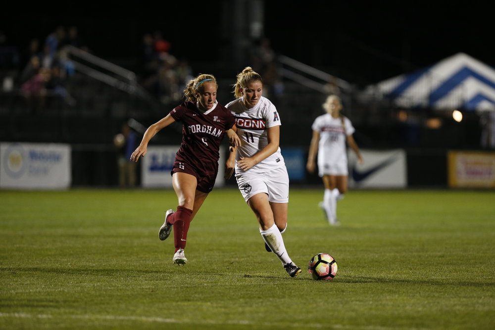 With the Fordham game behind them, the Huskies turn to the American Conference schedule. (Tyler Benton/The Daily Campus)