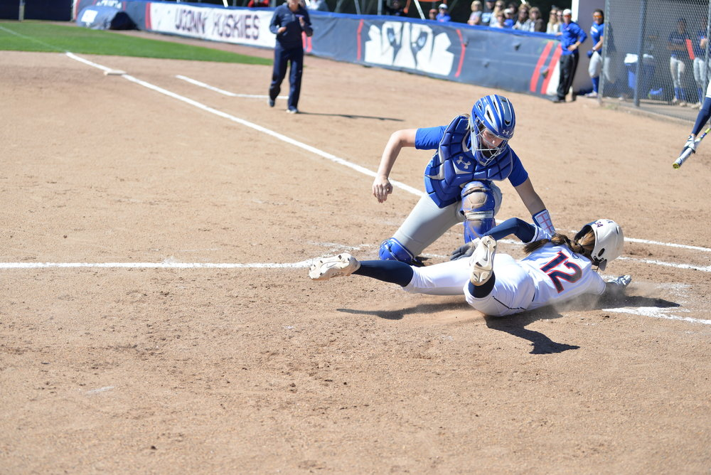 In the first game of their double header, UConn beat UMass 6-3 at home. (Amar Batra/The Daily Campus)