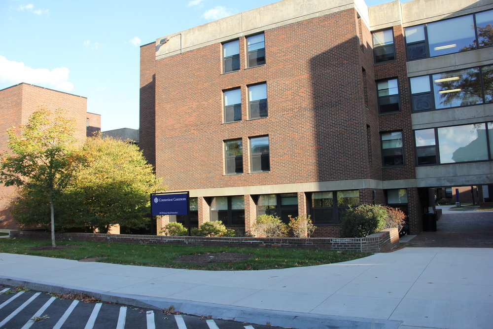 The now demolished Connecticut Commons residence hall. (File photo/The Daily Campus)