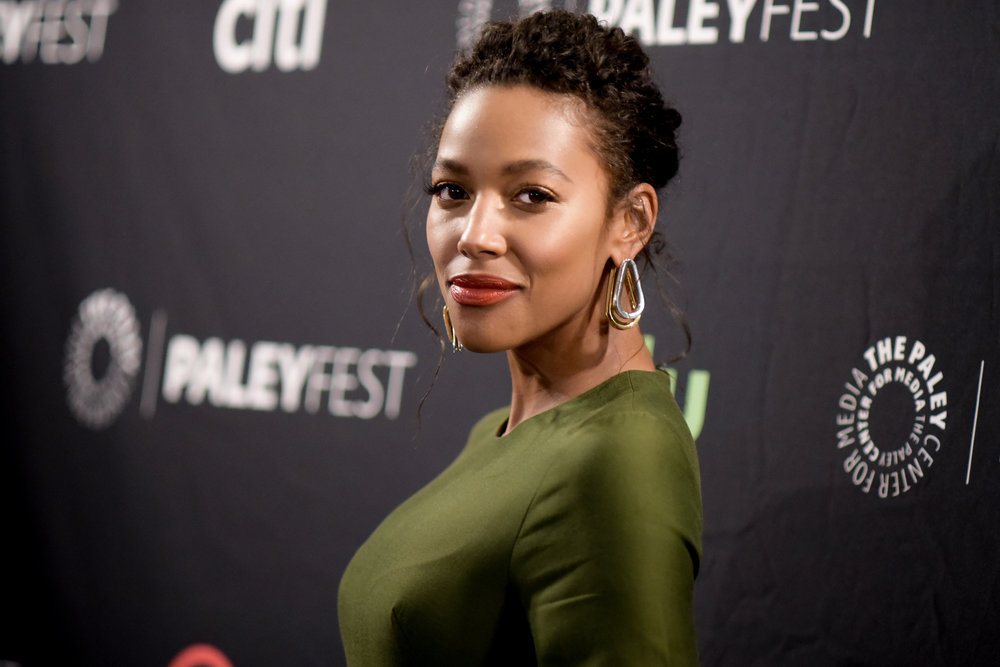 "Kylie Bunbury attends the ""Pitch"" screening and panel discussion at the 2016 PaleyFest Fall TV Previews on Thursday, Sept. 8, 2016, in Beverly Hills, California. (Richard Shotwell/Invision/AP)"