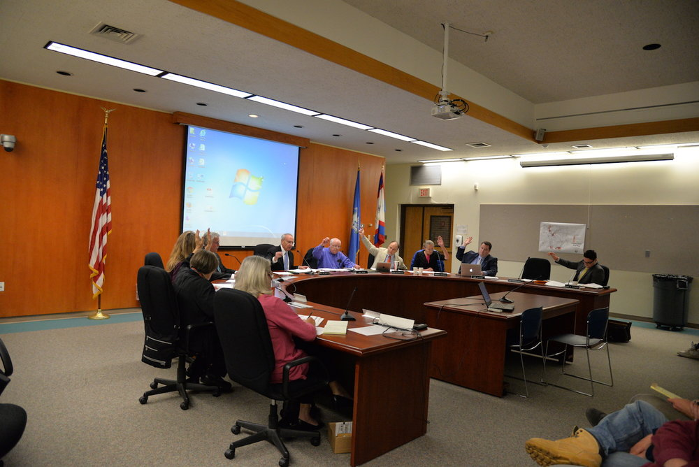 The mansfield town council meets on Monday, Sept. 26, 2016 for their weekly meeting in Town Hall. Items on the agenda included public comment on changes to housing ordinances and discussion of the new plans for the beautification of town hall. (Amar Batra/The Daily Campus)