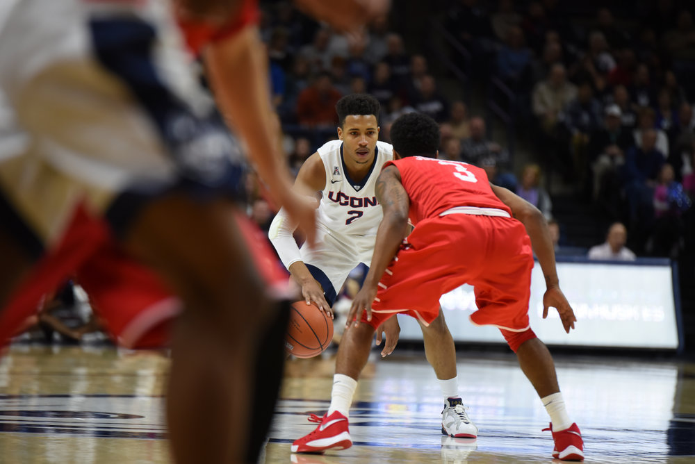 UConn falls to the University of Houston 69-57 at Gampel Pavilion on Sunday, Feb. 28, 2016. According to our sports department UConn and Houston are the two biggest contenders for a Big 12 spot. (Zhelun Lang/The Daily Campus)