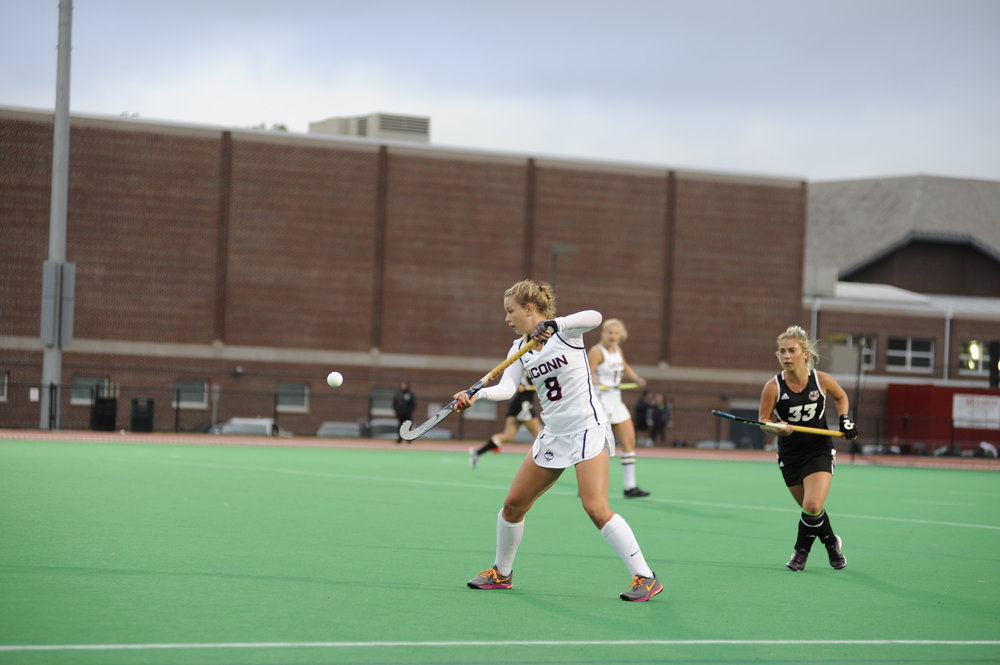 The Huskies trounced UMass 8-1 on Wednesday, Sept. 28 at the George J. Sherman Family Sports Complex in Storrs. (Photo by Jason Jiang/The Daily Campus)