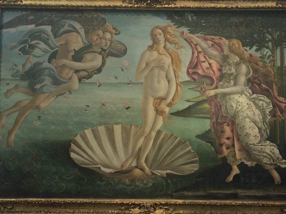 """The Birth of Venus"" by Botticelli from the Uffizi museum in Florence. (Sten Spinella/The Daily Campus)"