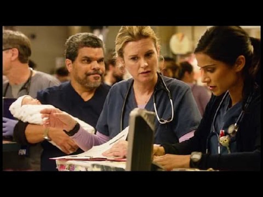 "The CBS medical drama series ""Code Black"" is back for its second season. This still shows a scene from season one, episode 16. (Screenshot/YouTube)"